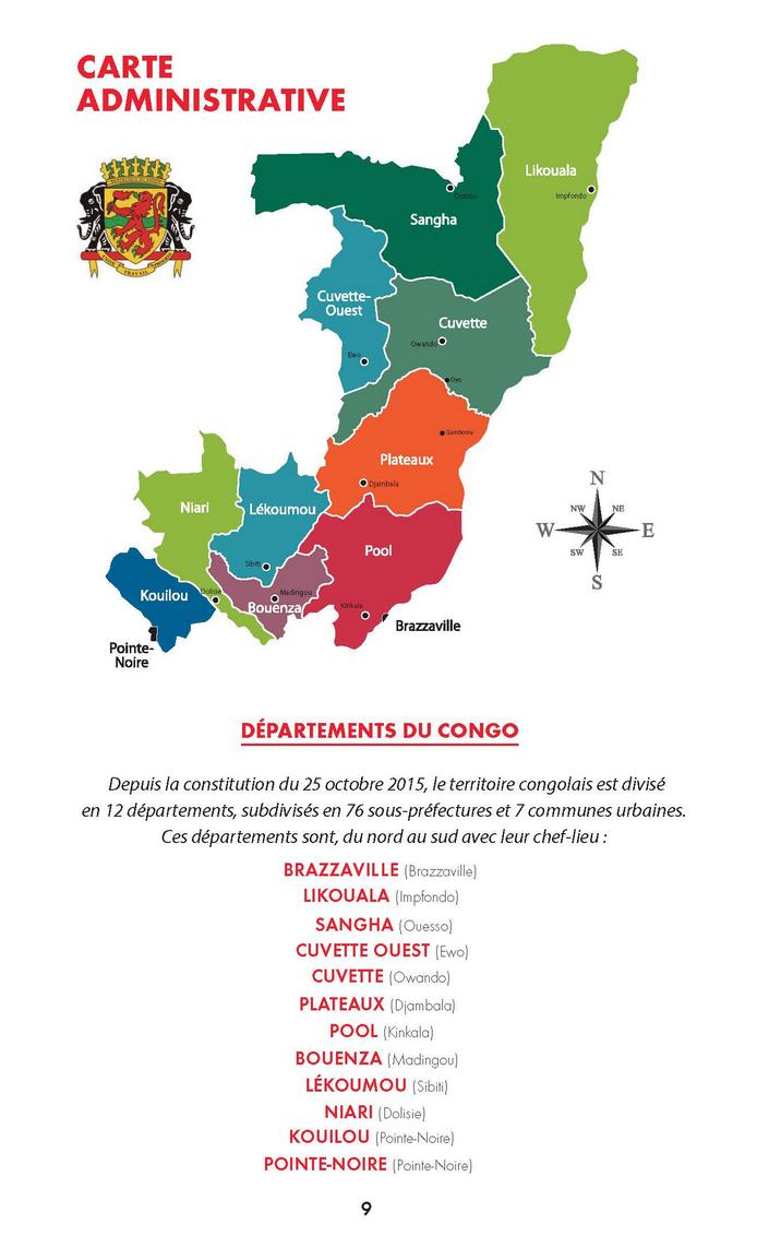 carte administrative de brazzaville